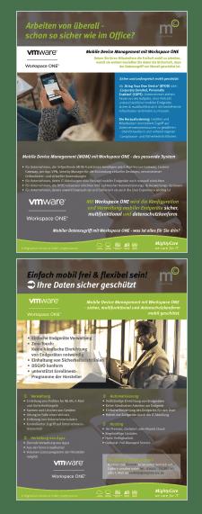 Laden Sie sich per Klick auf das Bild unseren doppelseitigen Flyer zu Workspace ONE und unseren Services herunter. © MightyCare Solutions GmbH, 2020